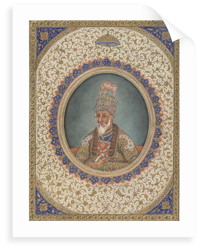 Portrait of Bahadur Shah II, the last Mughal Emperor by Circle of Ghulam 'Ali Khan