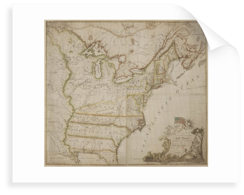 A historic map of America by Abel Buell