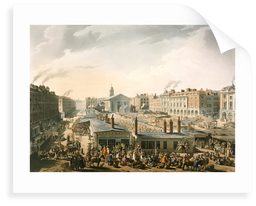 Covent Garden market by Pugin Rowlandson
