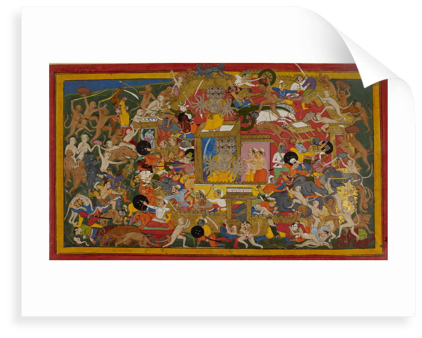 Rama attacks Lanka by Anonymous