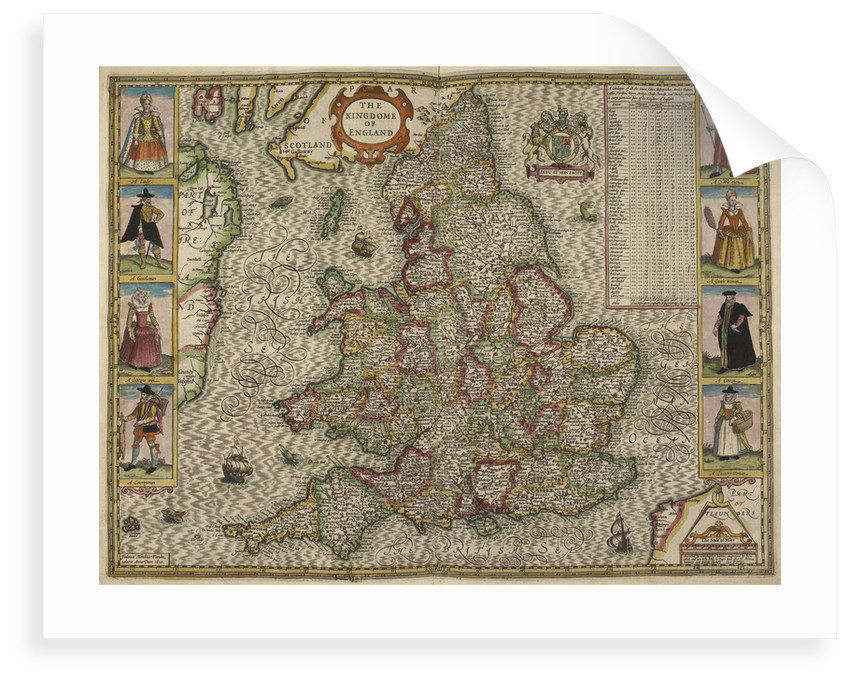 Map of the Kingdom of England by Christopher Saxton