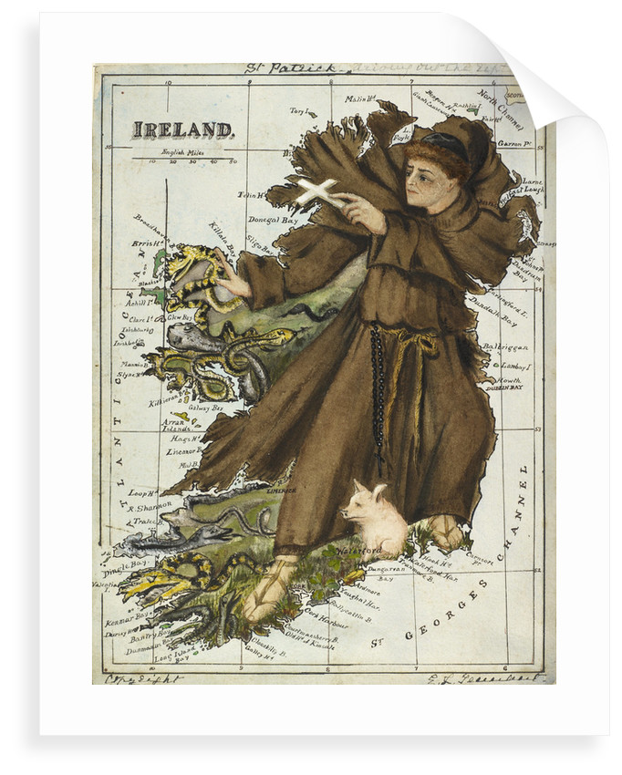 Cartoon map of Ireland by Lillian Lancaster