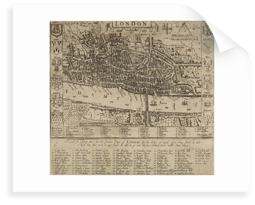 Map of the City of London, 1593 by John Norden