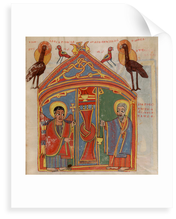 Zacharias and the angel Gabriel by Anonymous