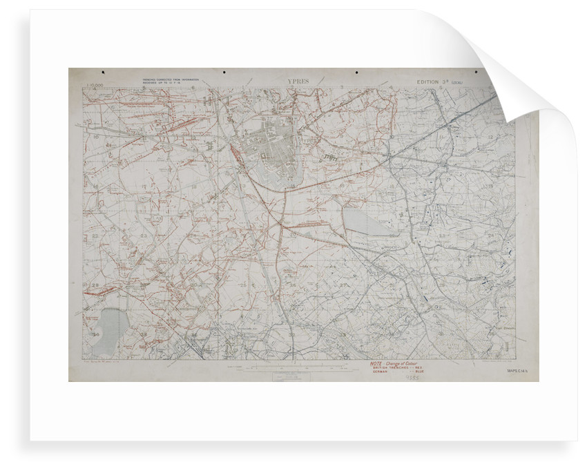 Map of the First World War: Ypres by Anonymous