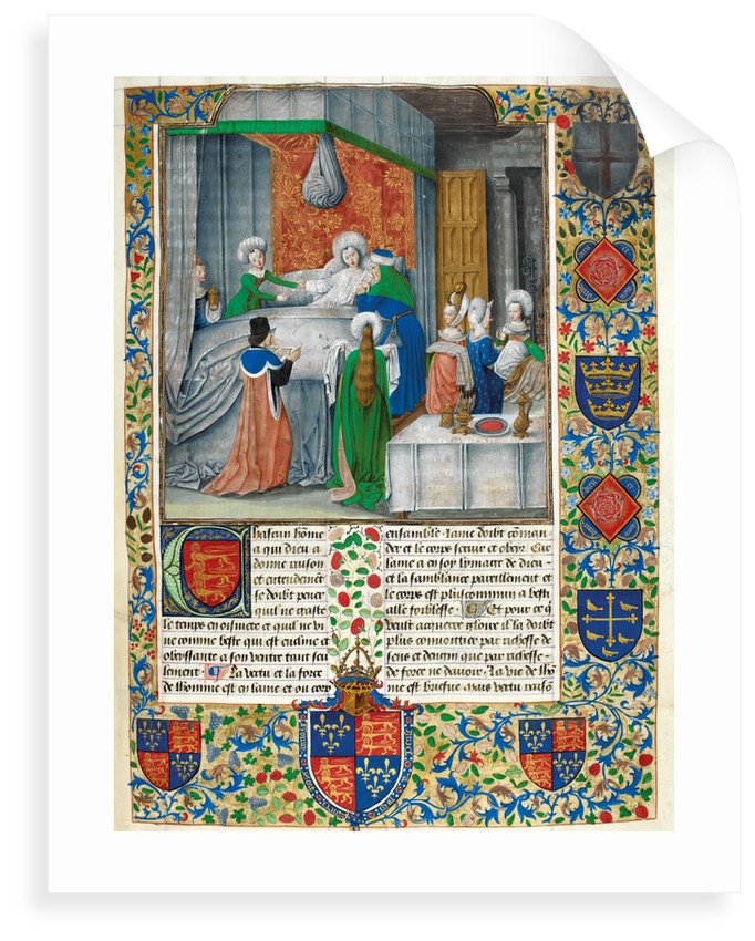 The birth of Caesar, with the arms of Edward IV by Anonymous