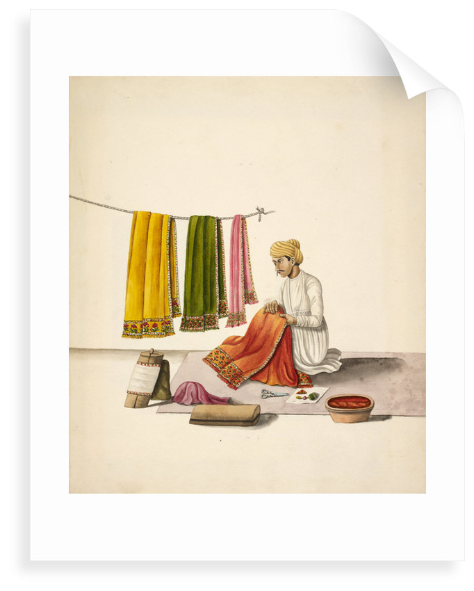 Shawl embroiderer by Anonymous