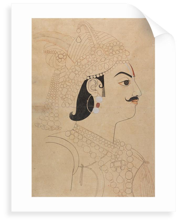 Maharaja Pratap Singh of Jaipur by Sahib Ram