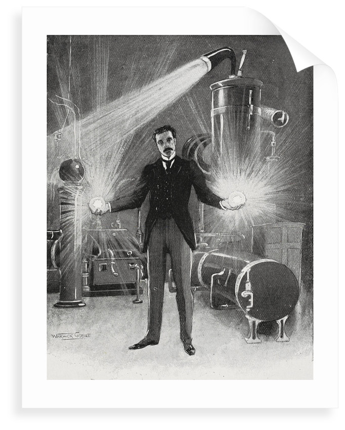 Nikola Tesla - The New Wizard of the West by Warwick Goble