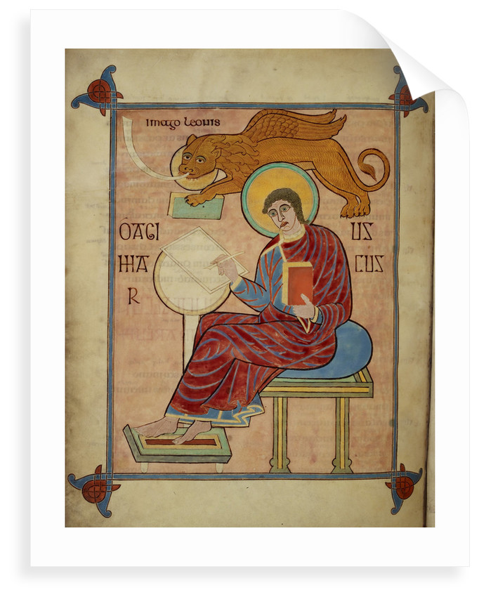 St Mark in the Lindisfarne Gospels by Eadfrith