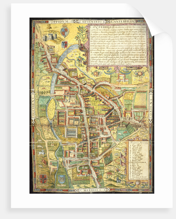 A street map of Cambridge by Anonymous