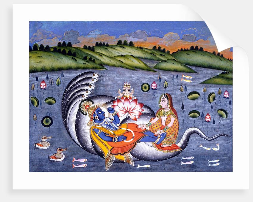 Vishnu and Lakshmi by Anonymous