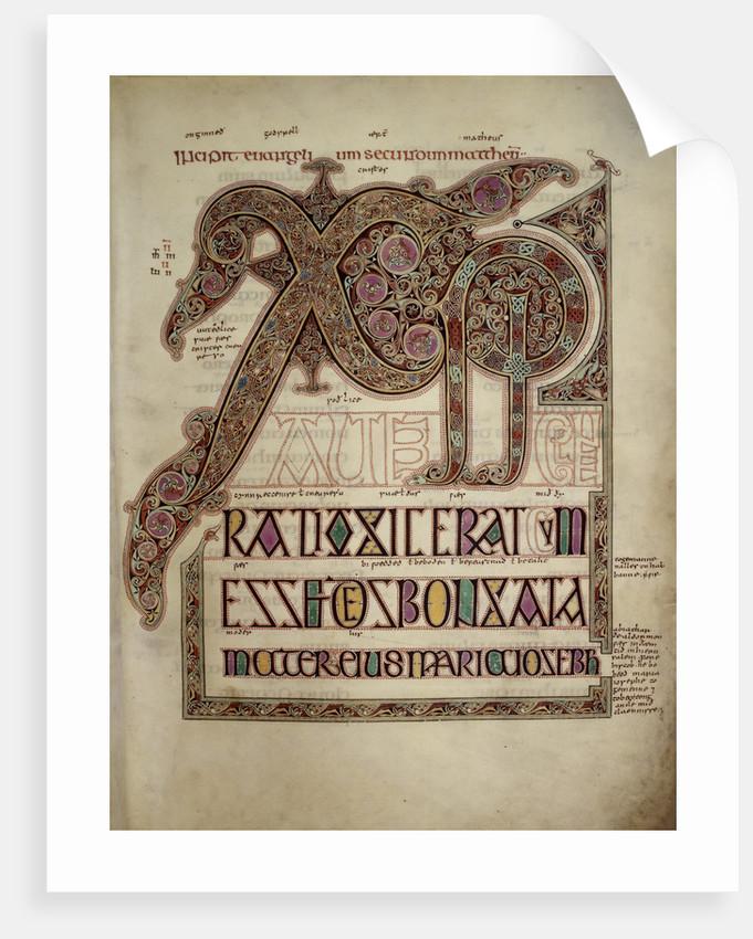 Lindisfarne Gospels St. Matthew's Gospel by Anonymous