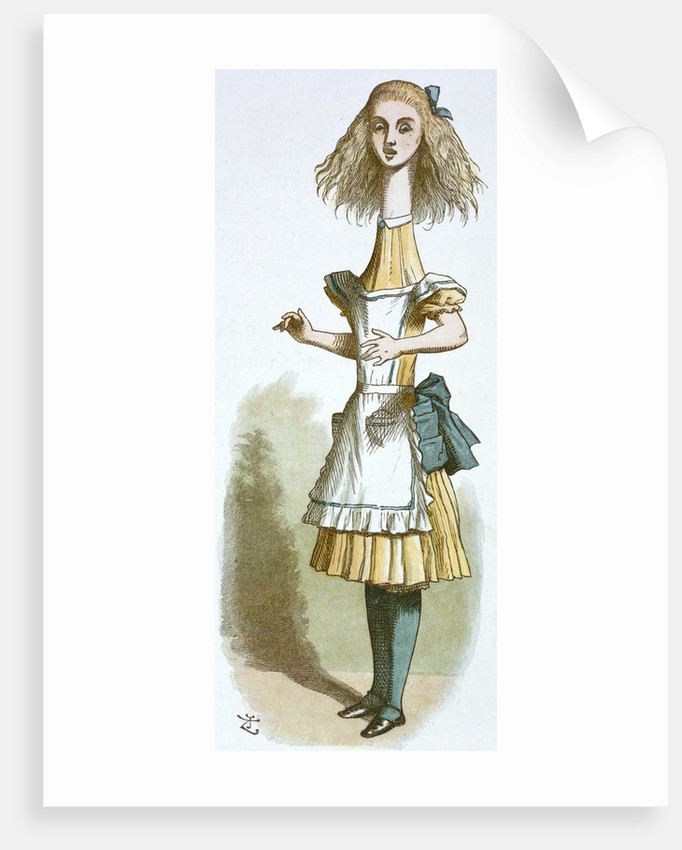 Alice growing by John Tenniel