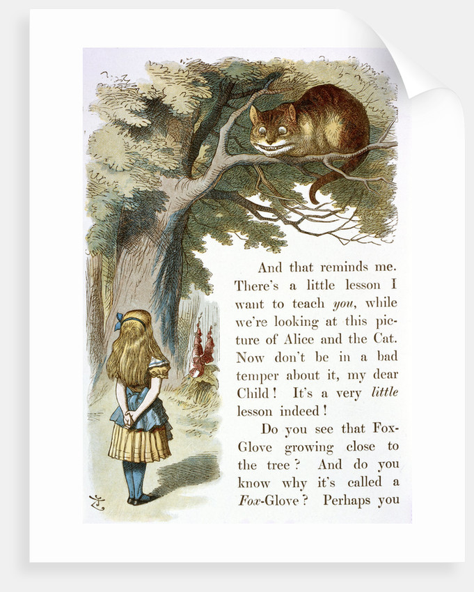 Alice and the Cheshire Cat by John Tenniel
