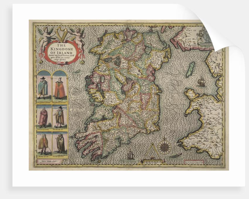 Map of Ireland by John Speed