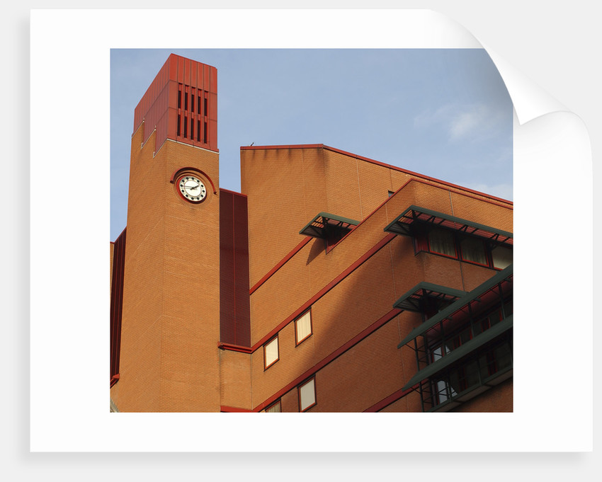 British Library clock tower by The British Library