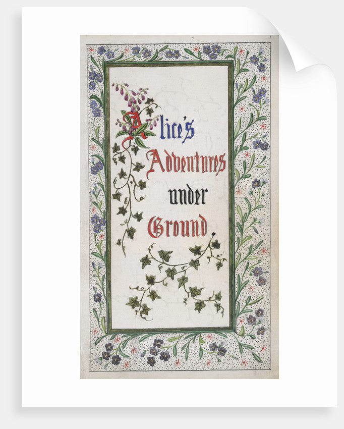 Alice's Adventures Under Ground title page by Charles Lutwidge Dodgson