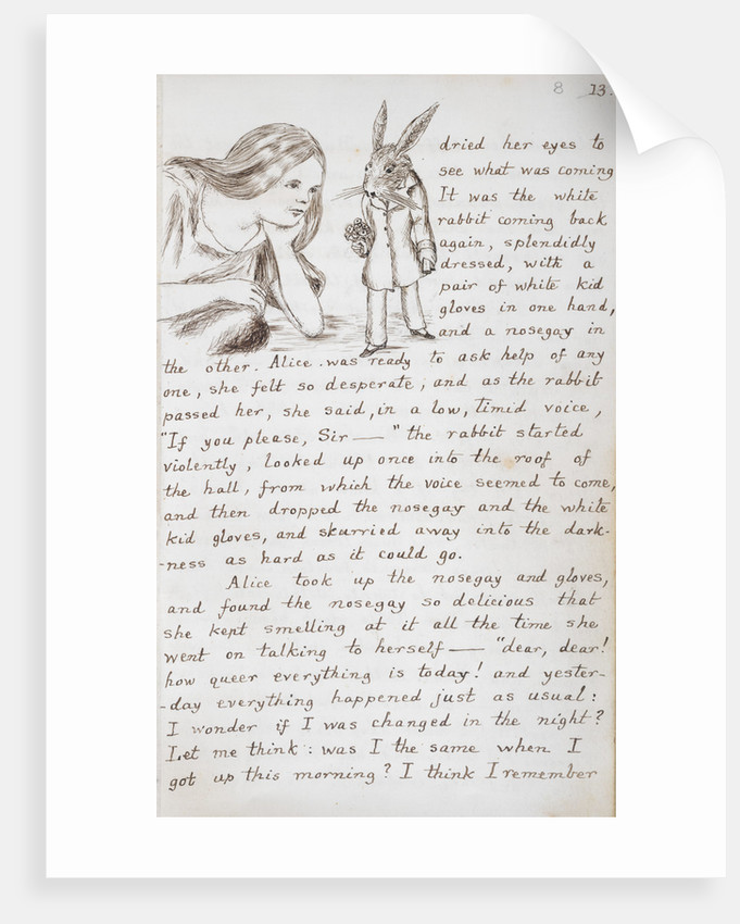 Alice and the White Rabbit by Lewis Carroll