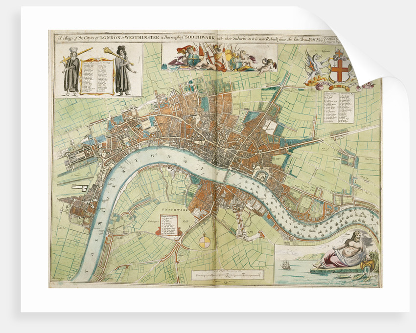 Great Fire Of London Map.London And Westminster Rebuilt After The Great Fire Of London Map