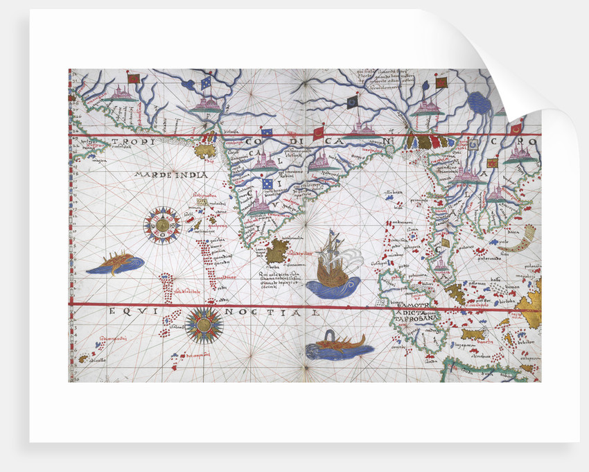 Chart of the Indian Ocean by Joan Martines