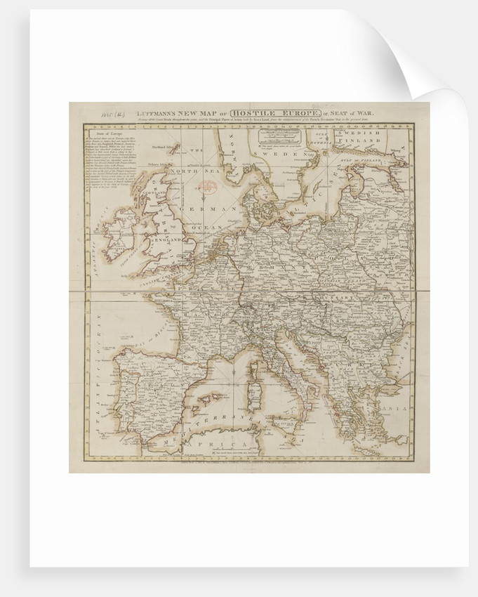 A map of hostile Europe by Anonymous