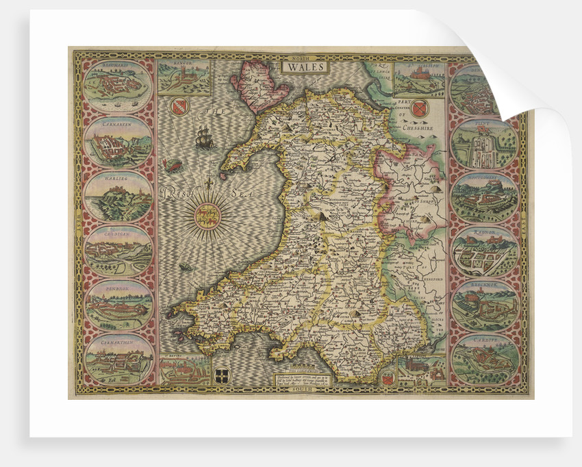 Map of Wales by John Speed