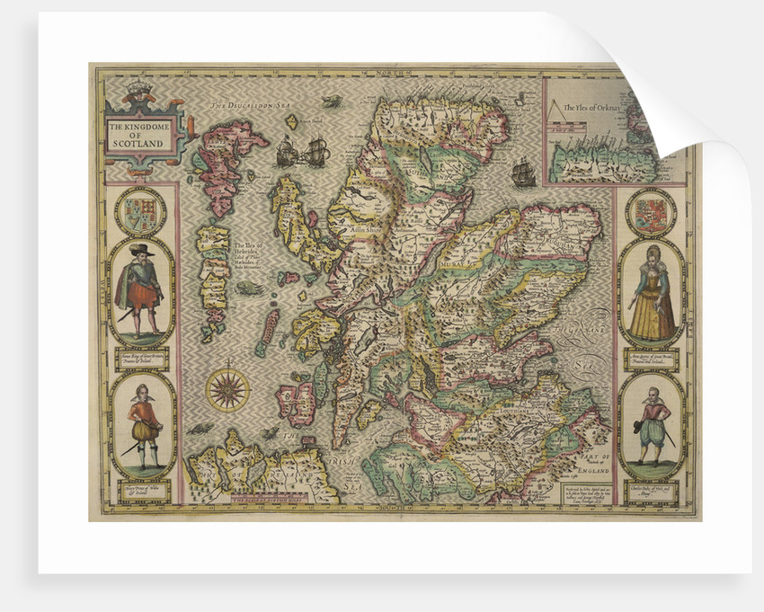 Map of Scotland by John Speed