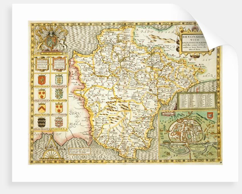 Map of Devon by John Speed
