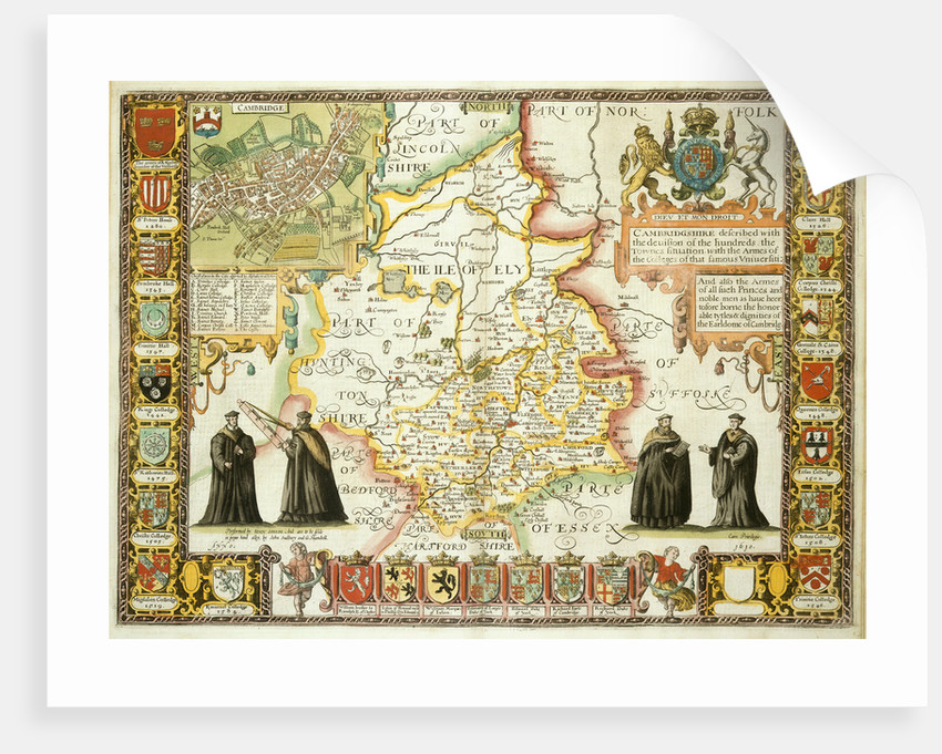 Map of Cambridgeshire by J Speed