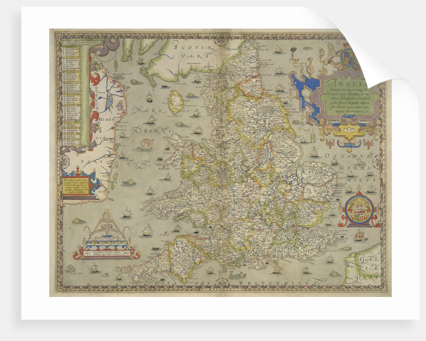 Map of England and Wales by Christopher Saxton