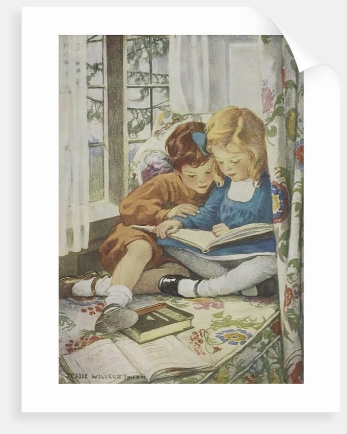 Children reading by Jessie Willcox Smith