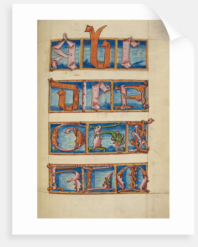 Medieval alphabet from the Macclesfield Alphabet Book by Anonymous