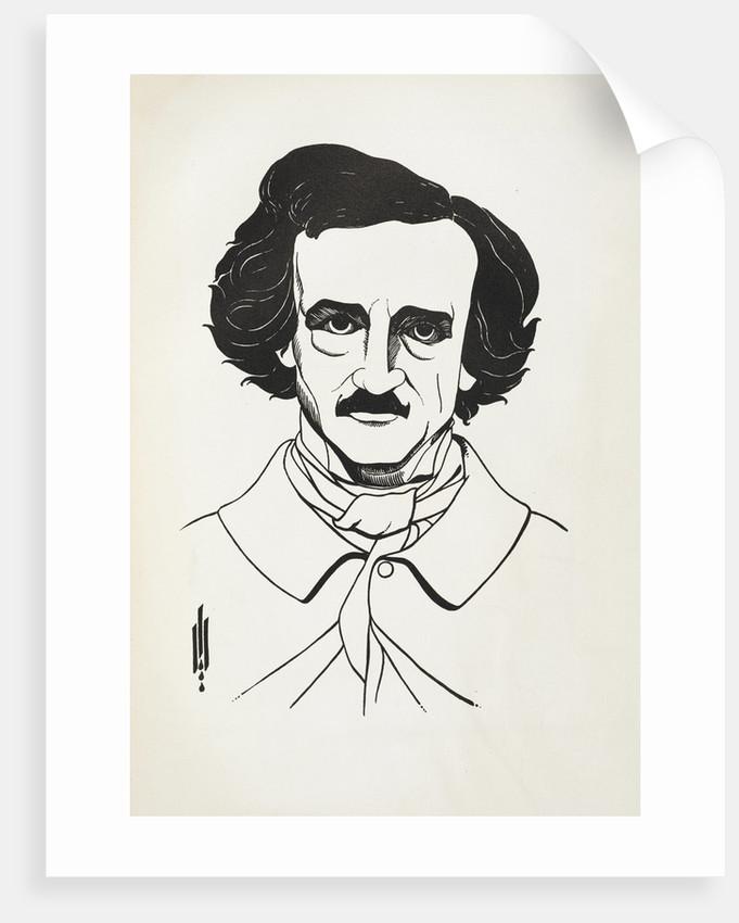 A Portrait of Edgar Allan Poe by Aubrey Beardsley