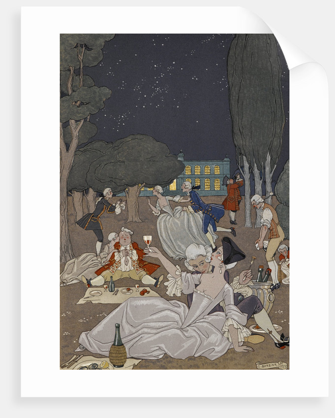 Evening romance by George Barbier