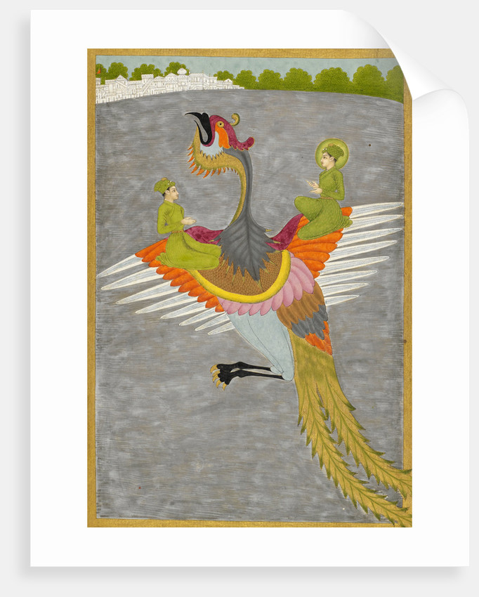 Prince Gauhar and his companion rescued by the simurgh by Govardhan II