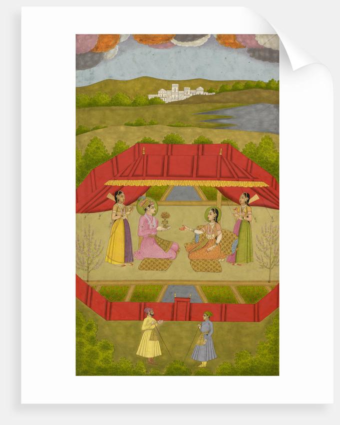 Prince Gauhar and Princess Malika-i Zamani by Govardhan II