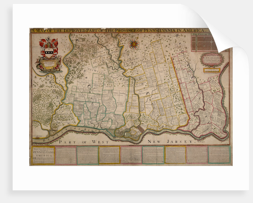 Map of Pennsylvania by Thomas Holme