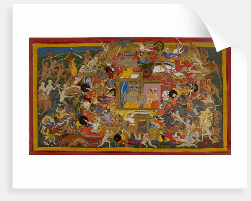 Rama attacks Lanka by Anonymous
