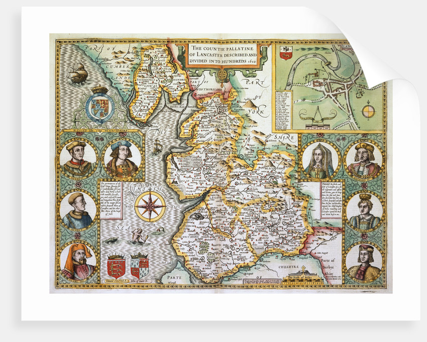 Map of Lancashire by John Speed