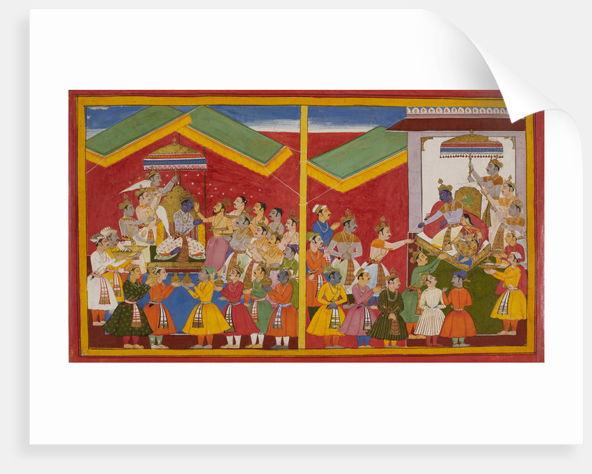 Rama is anointed as King of Ayodha by Anonymous