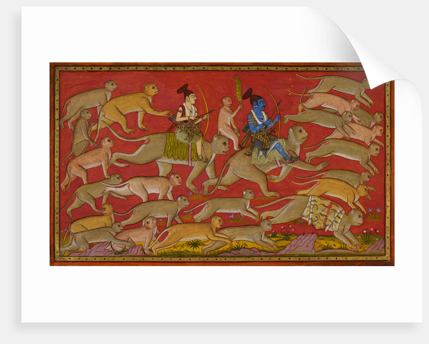 Rama and the monkey army set out to rescue Sita by Anonymous