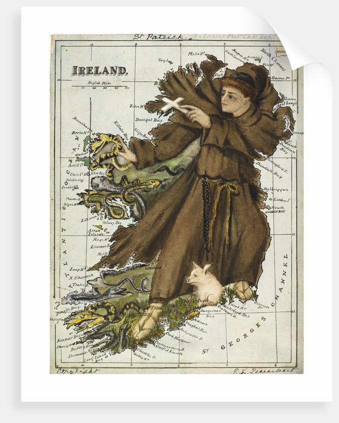 Cartoon map of Ireland by Lillian Lancaster