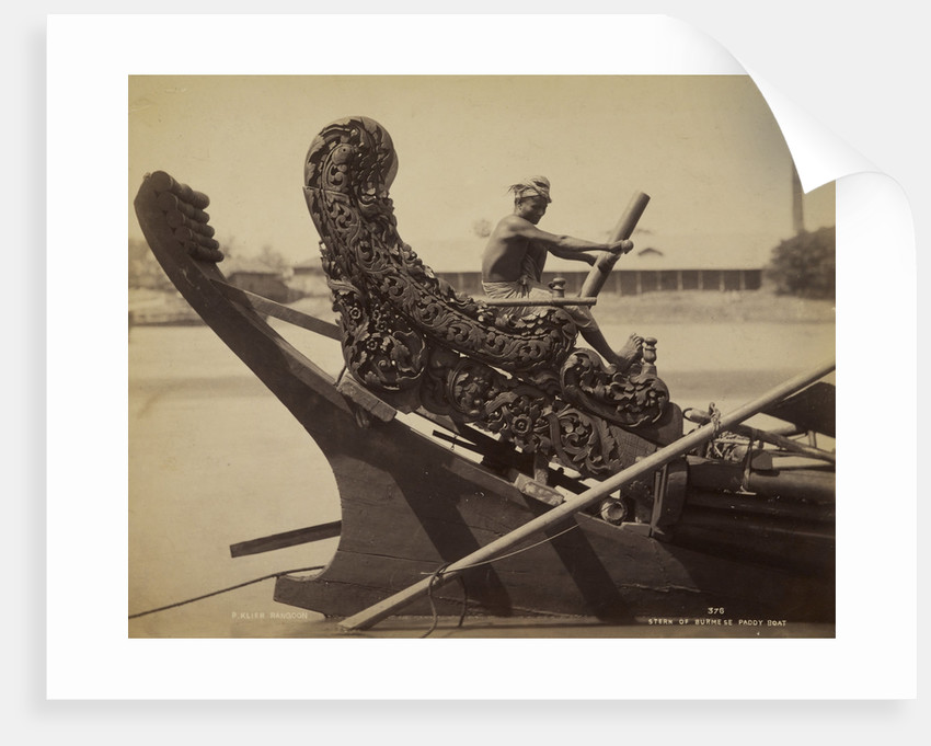Stern of a laung-zat or rice boat by Philip Adolphe Klier