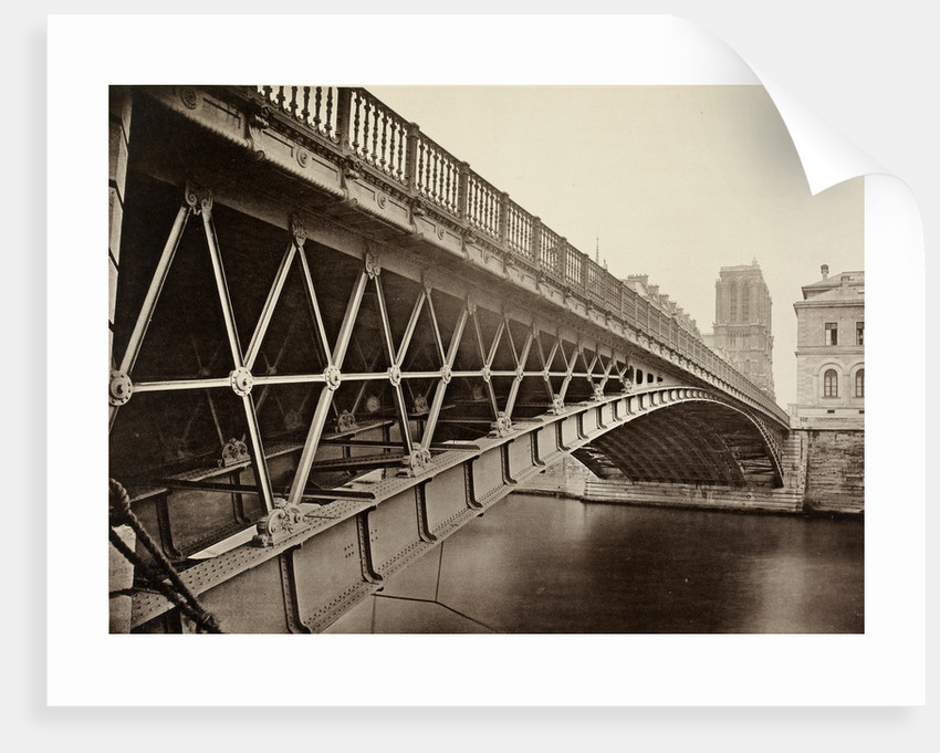 The Pont d'Arcole,  Paris, c.1870s by unknown