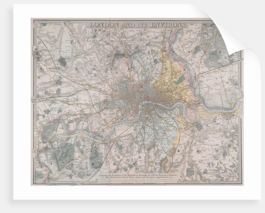 Map of London by Davis