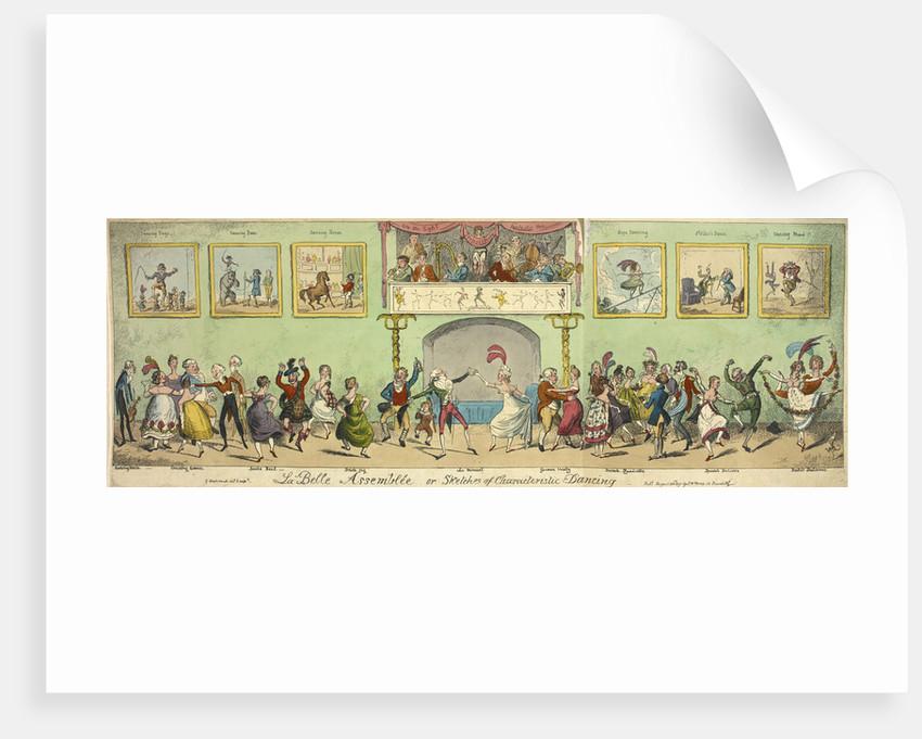 Sketches of characteristic dancing by George Cruikshank
