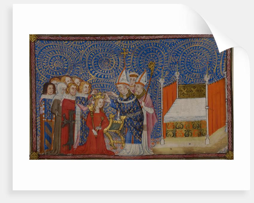 Coronation of Queen Jeanne de Bourbon by Anonymous