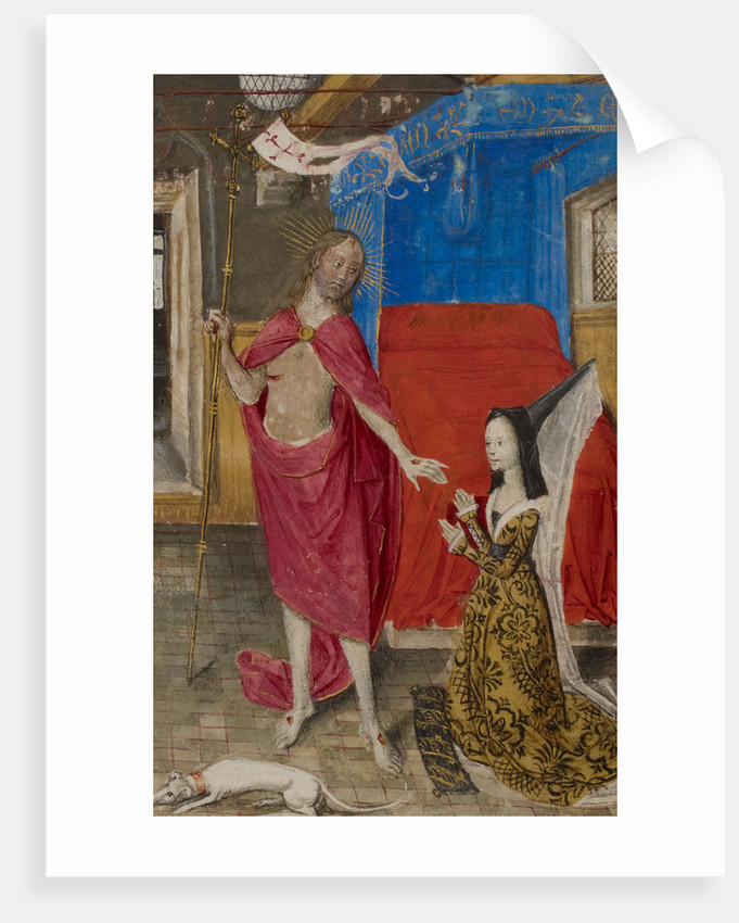 Margaret of York in dialogue with the Resurrected Christ by Anonymous