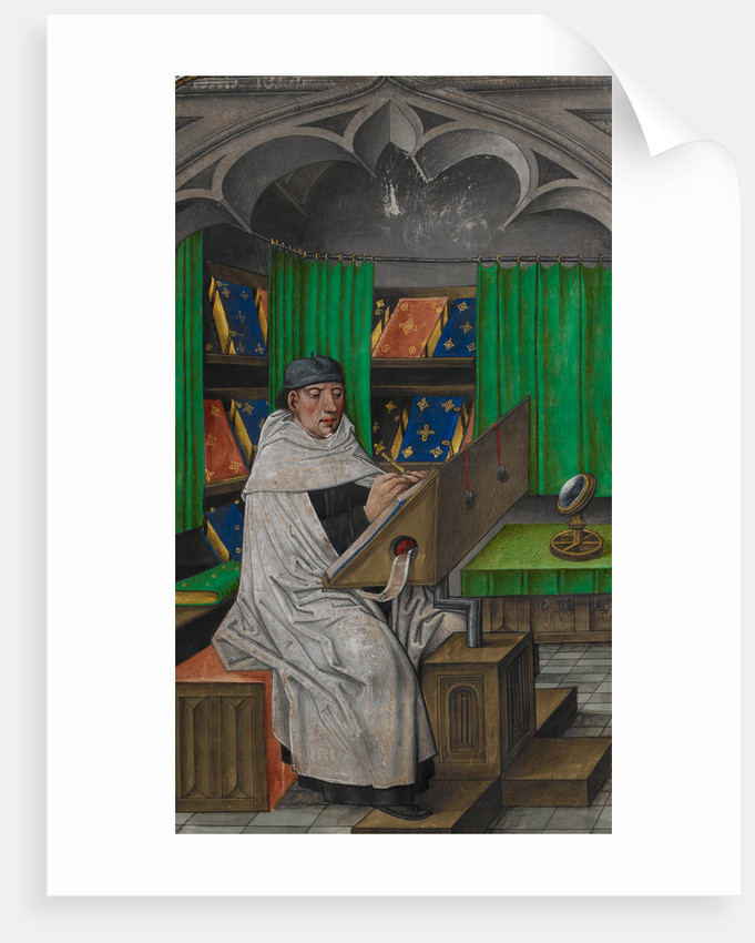 Vincent de Beauvais at work in his study by Anonymous
